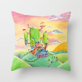 Land of Ooo Throw Pillow