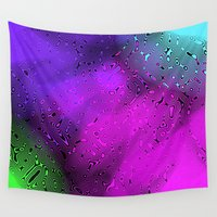 bubbles Wall Tapestries featuring Bubbles by Abstract Designs