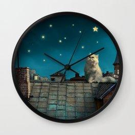 Pritty Cat Wall Clock