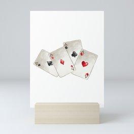 Four of A Kind Aces Nevada Day Mini Art Print