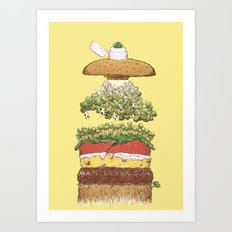 It's Burger Time! Art Print