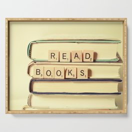 Read Books Serving Tray