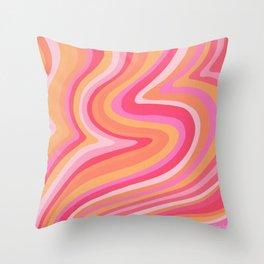 Sunshine Melt – Pink & Peach Palette Throw Pillow
