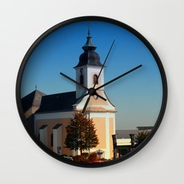 The village church of Kirchschlag | architectural photography Wall Clock