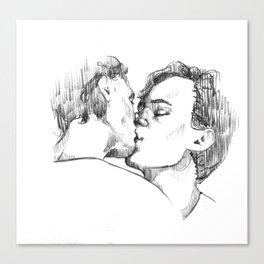 Isak & Even | Kiss 2 Canvas Print