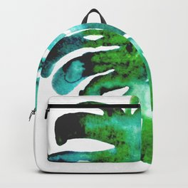 Four Tropical Leaves Backpack