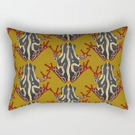 congo tree frog gold Rectangular Pillow