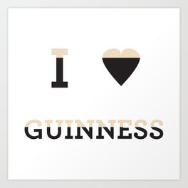 I heart Guinness Art Print