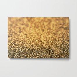 Beautiful Gold Glitter Sparkles Metal Print