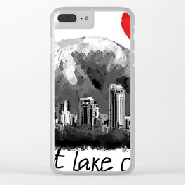 I love Salt Lake City Clear iPhone Case