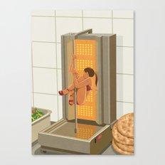 Donna kebab Canvas Print
