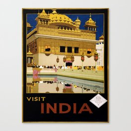 Vintage poster - India Canvas Print