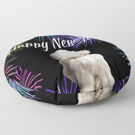 Top Model Paul Shih Tzu Dog - Happy New Year Fireworks Floor Pillow
