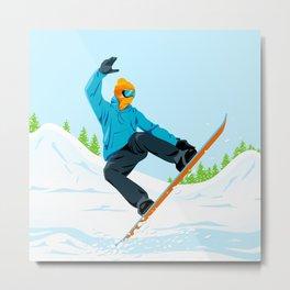 Snowboarder Metal Print