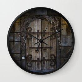 Gothic Spooky Door Wall Clock
