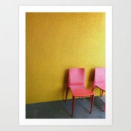 Pink + Yellow Art Print
