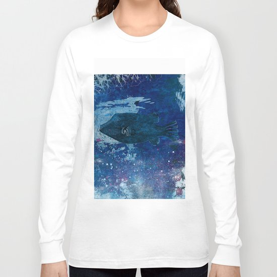 Cosmic fish, ocean, sea, under the water Long Sleeve T-shirt