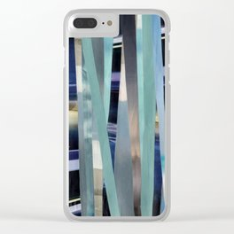 Sea(scapes)stripes Clear iPhone Case