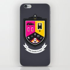 The Game is On! - grey version iPhone & iPod Skin