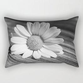Daisy Flower Black & White Rectangular Pillow