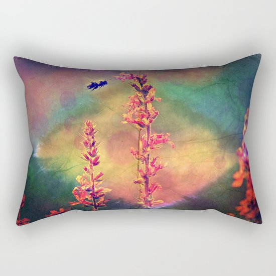 Bee N Wildflowers Diamond Earth Tones Rectangular Pillow