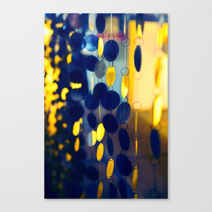 GLAM CIRCLES #Blue #1 Canvas Print