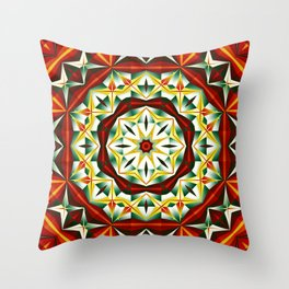 Winter cheer, abstract pattern design Throw Pillow