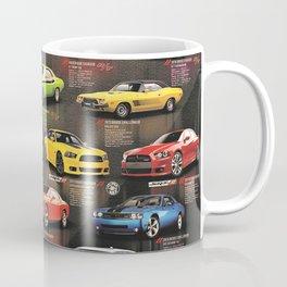 Charger - Challenger History Automotive Evolution Poster Coffee Mug