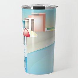 Atlantic City, New Jersey - Skyline Illustration by Loose Petals Travel Mug