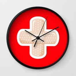 First Aid Plaster Wall Clock