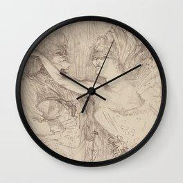 """Henri de Toulouse-Lautrec """"Guy et Mealy, dans Paris qui Marche"""" Wall Clock"""