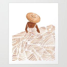 Madame Fleur Art Print
