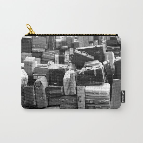 TOWER OF LUGGAGE in Black & White Carry-All Pouch