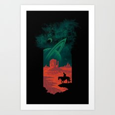 Final Frontiersman Art Print