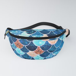 REALLY MERMAID BLUE & GOLD Fanny Pack