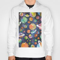 planet Hoodies featuring Planet by Michaella Fonseca