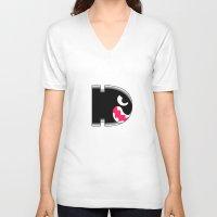 bill V-neck T-shirts featuring Bullit bill by erndub