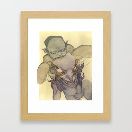 Demons Eating Demons Framed Art Print