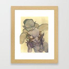 Demons Eating Demons Framed Art Print