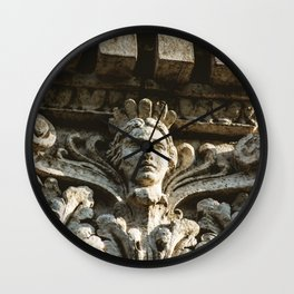 Uptown Chicago Architectural Detail Stone Face  Wall Clock