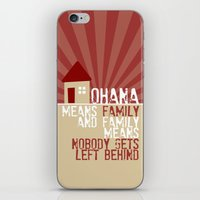 lilo and stitch iPhone & iPod Skins featuring Ohana Means Family - Lilo & Stitch by Crafts and Dogs