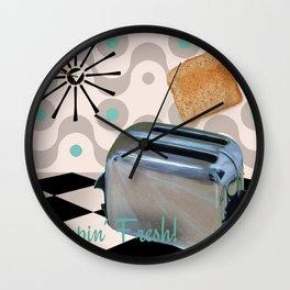 Fifties Kitchen Toaster Wall Clock
