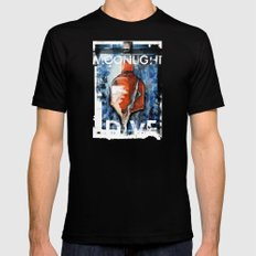 MOONLIGHT DIVE Mens Fitted Tee Black SMALL