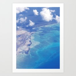 view from up here Art Print