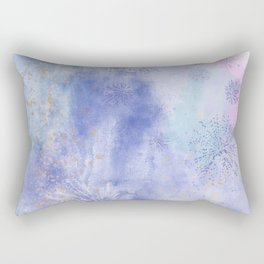 Abstract Distraction, Pink, Purple, Blue Rectangular Pillow