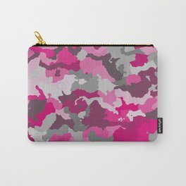 Pink and Gray camo 2 Carry-All Pouch