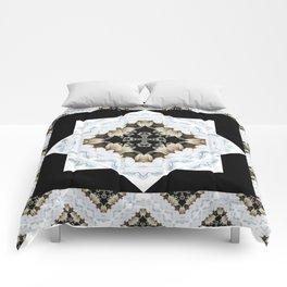 diamond cross pattern with borders Comforters