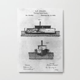 1879 Towing canal-boats Metal Print