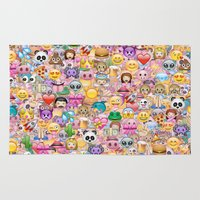 emoji Area & Throw Rugs featuring emoji / emoticons by Marta Olga Klara