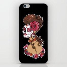 Glamorous Sugar Skull Girl iPhone Skin